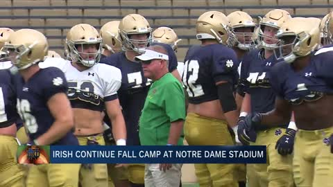 Irish continue fall camp at Notre Dame Stadium